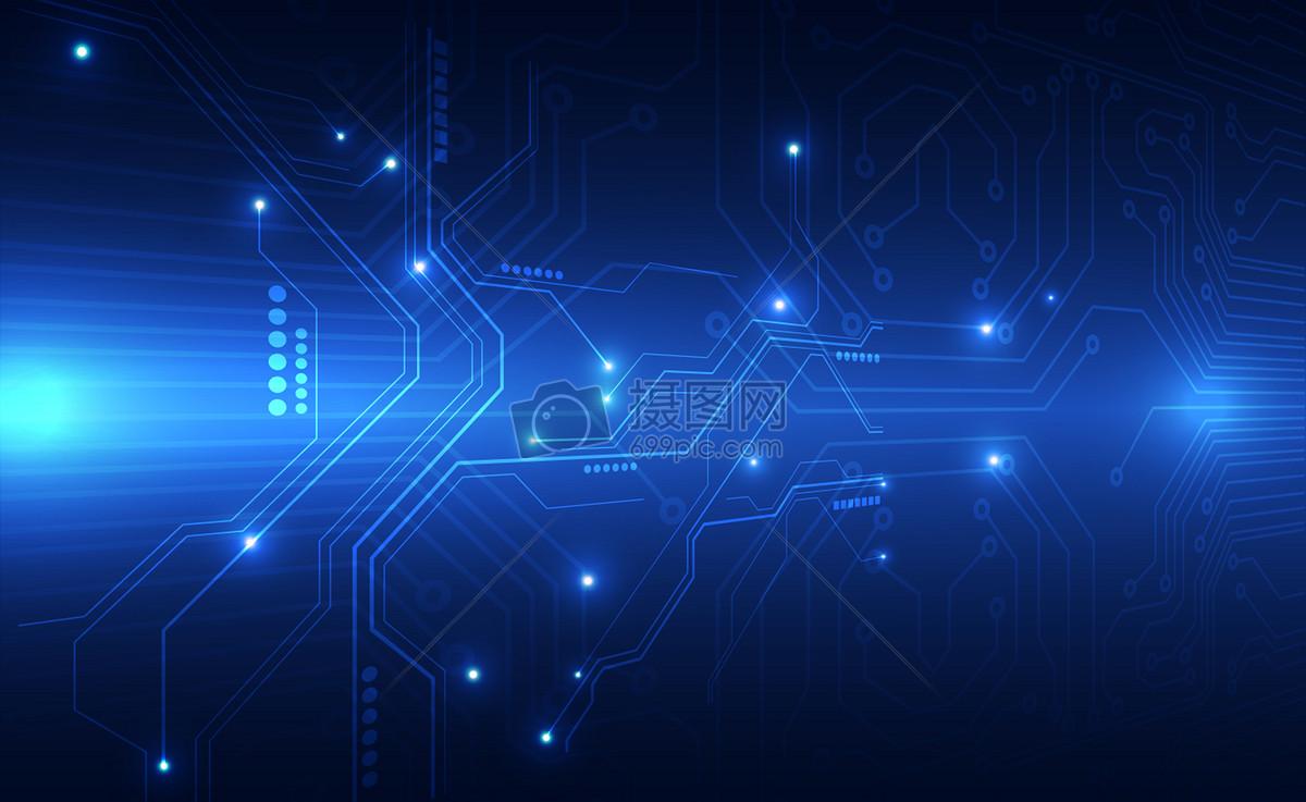 蓝色信息技术科技背景图片素材_免费下载_jpg图片格式