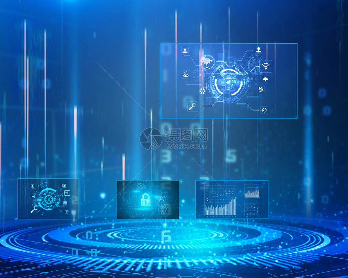 蓝色商业科技背景摄影图片免费下载_背景/素材图库