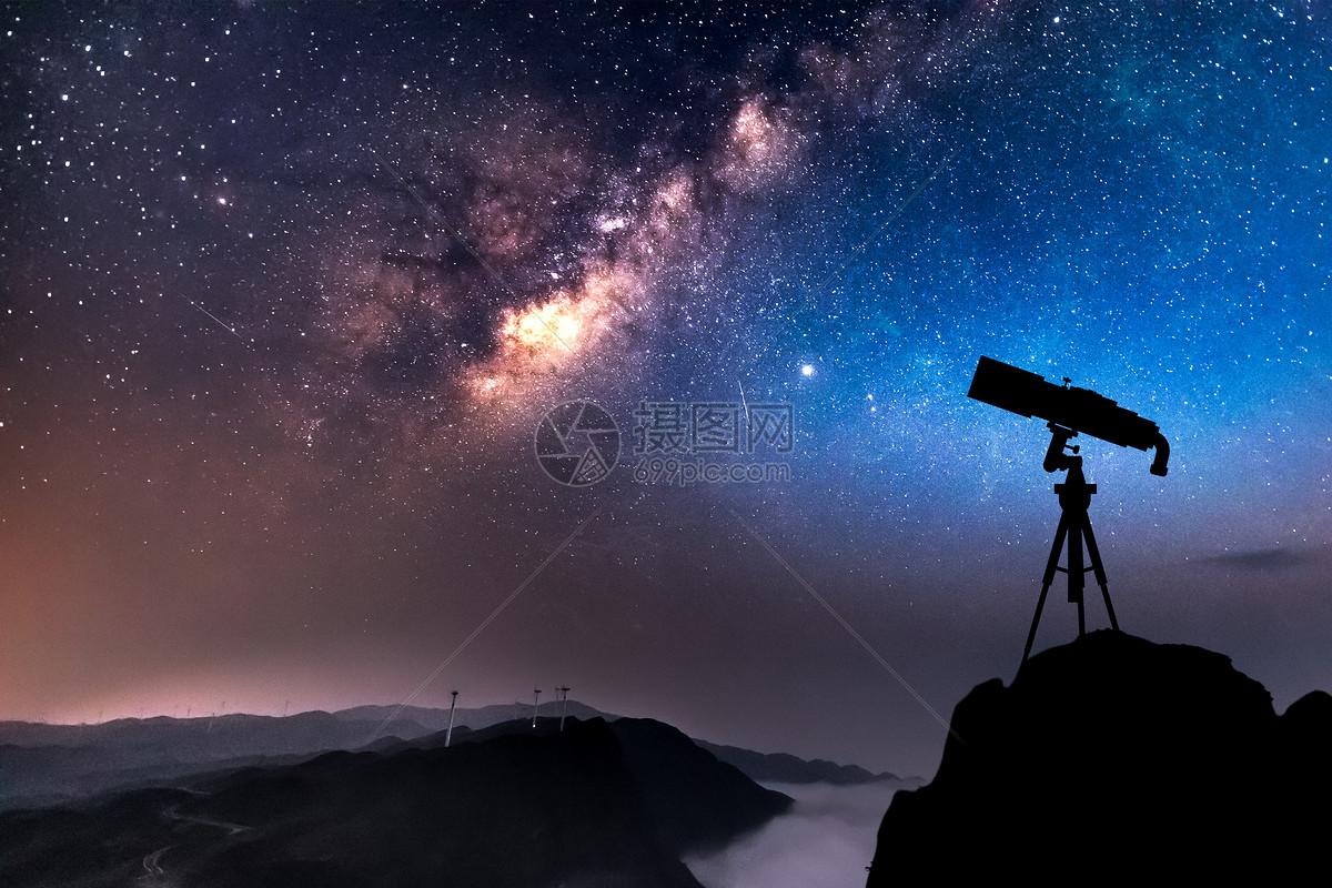 天文俱乐部海报手绘