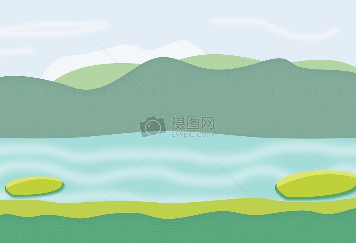 小女孩24节气手绘山丘之夏至景色图片手绘山丘之夏至景色图片免费下载