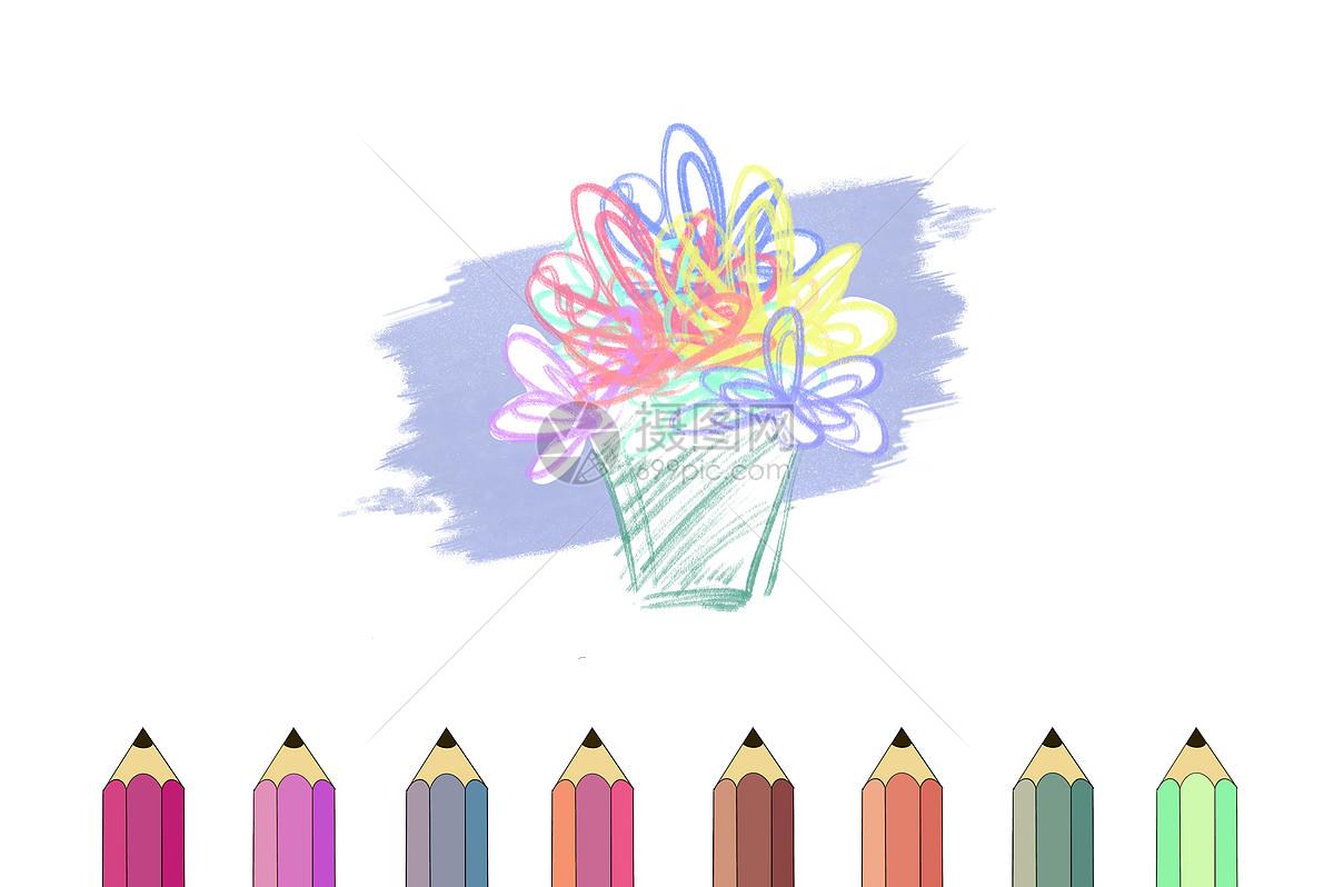 多彩彩铅笔