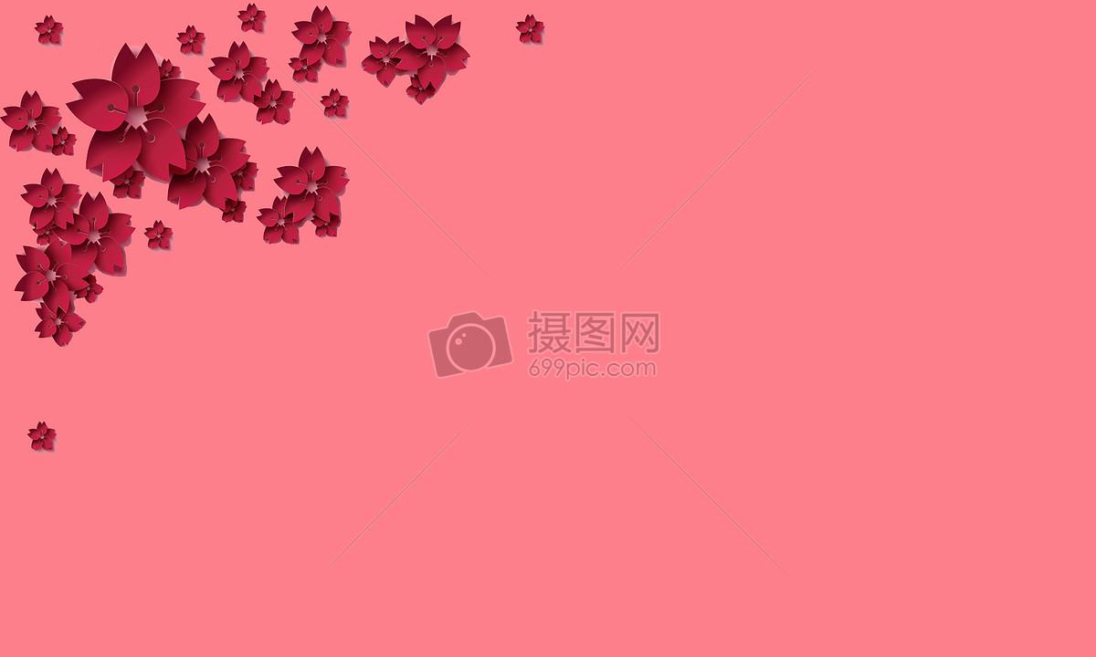花朵粉色系简约背景摄影图片免费下载_背景/素材图库