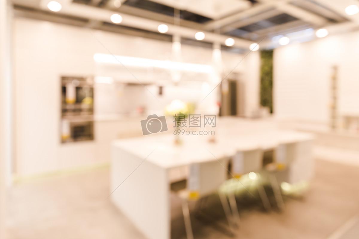 家居生活明亮厨房虚化场景摄影图片免费下载_室内