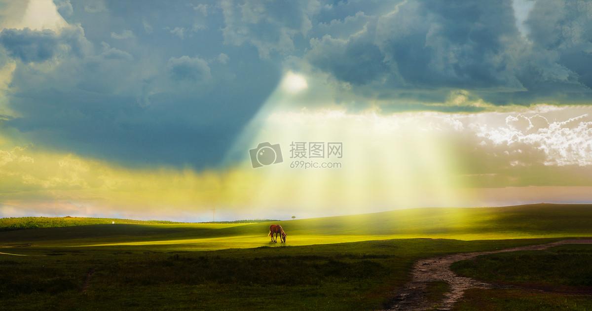 草原光影图片