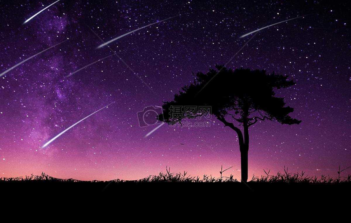 夜晚的流星雨