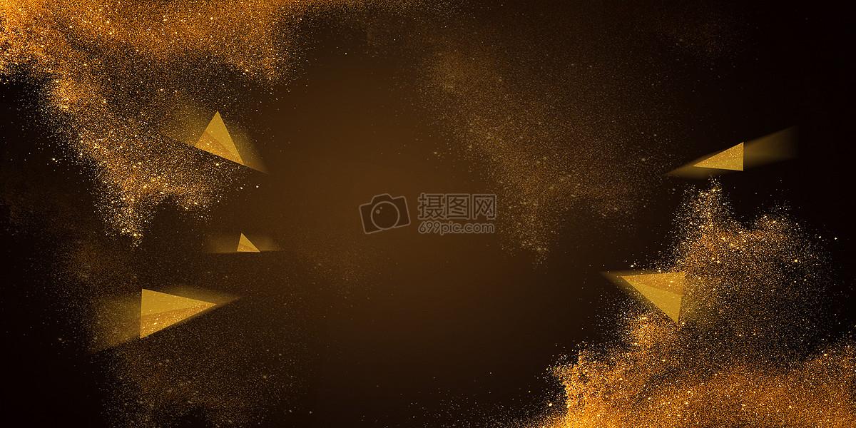 大气金色banner背景图片素材_免费下载_jpg图片格式