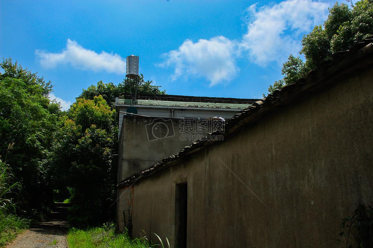 老房子摄影图片免费下载_自然/风景图库大全_编号-摄