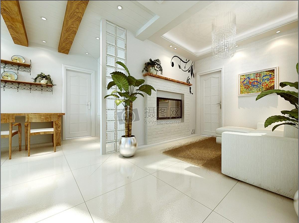 沙发背景墙现代客厅黑白灰效果图家装客厅客厅效果图室内效果图家具后
