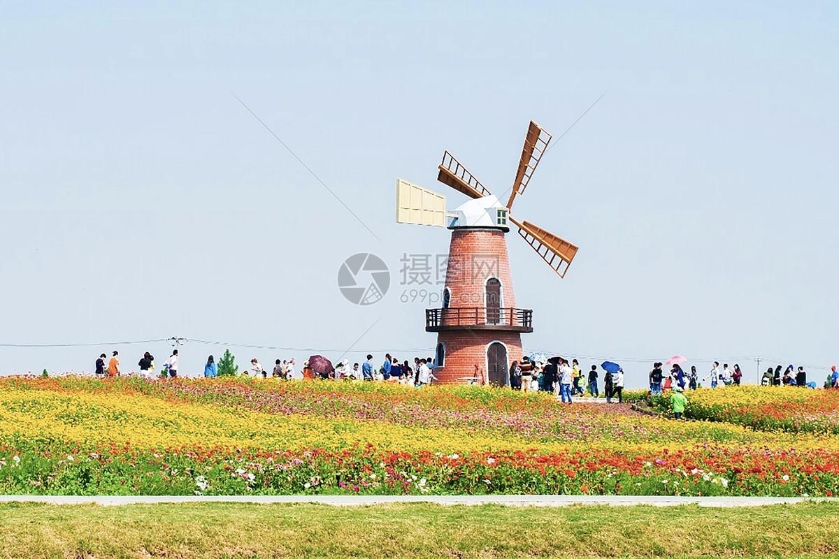 照片 自然风景 荷兰风车jpg