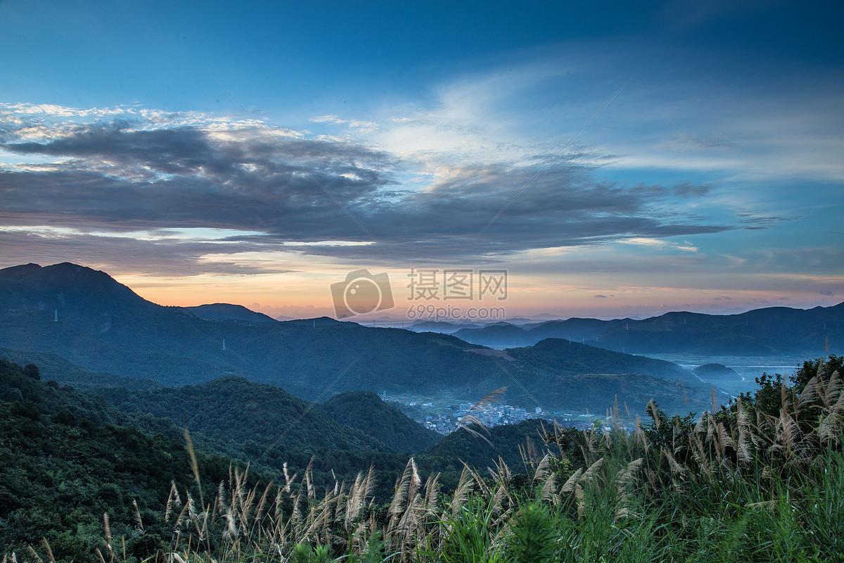 图片 照片 自然风景 宁波宁海杜鹃山清晨日出风光.jpg