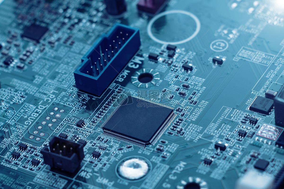 网络科技感科技底图网络安全芯片黑客集成电子蓝色科技科技电路板大