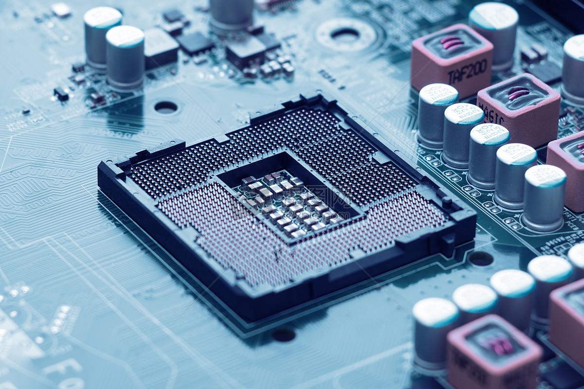 芯片电子电路板科技合成地图