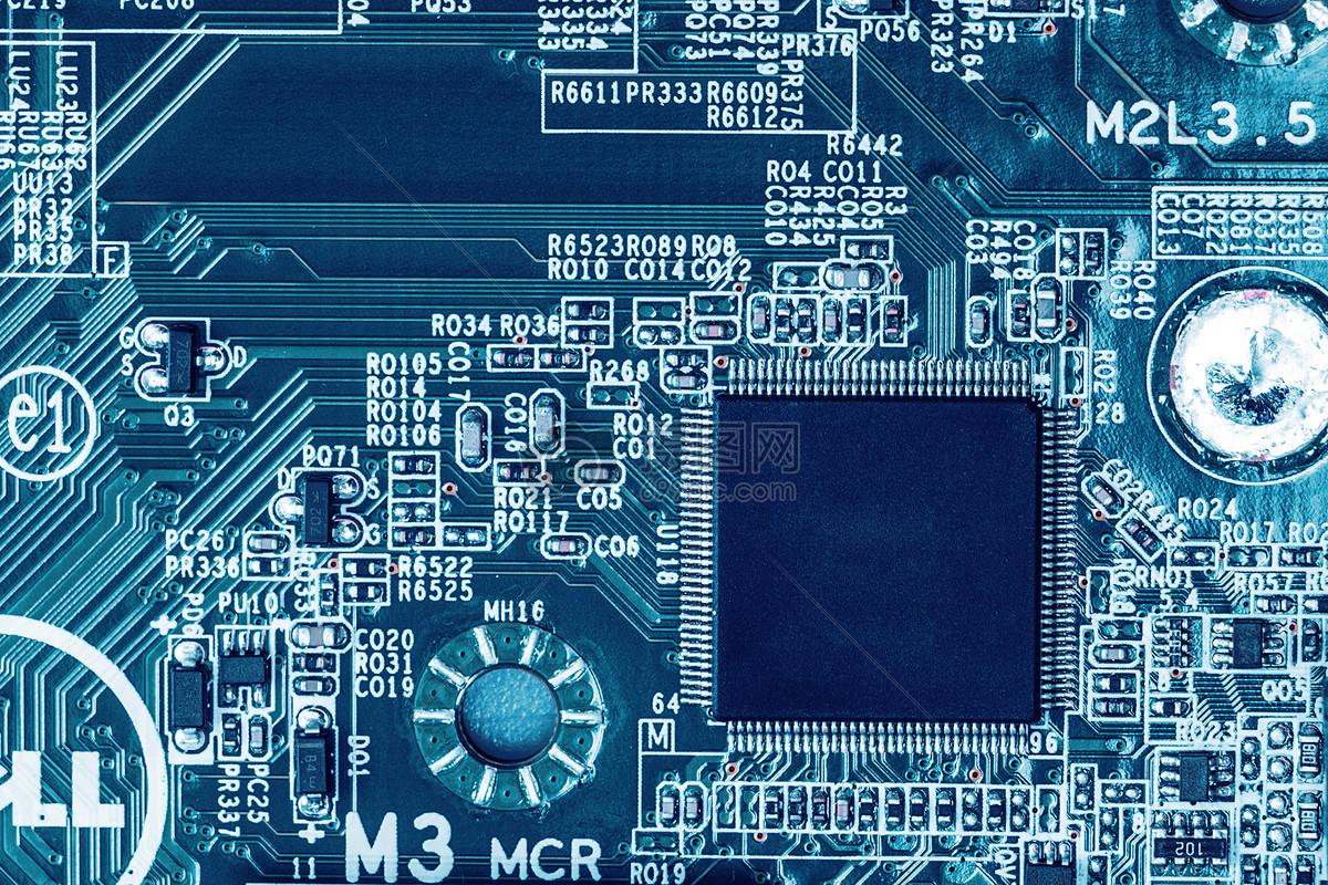 电子芯片科技感概念图