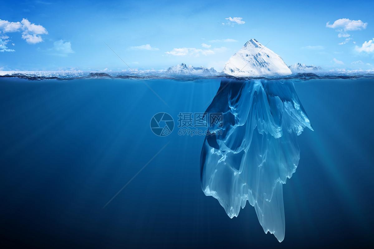 冰山怎么画简笔画
