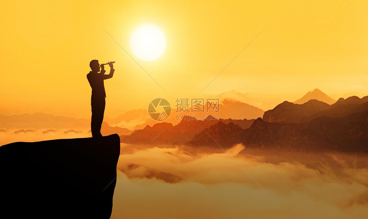 人物剪影图片  登山运动员旅行剪影图片素材_免费下载_jpg图片格式