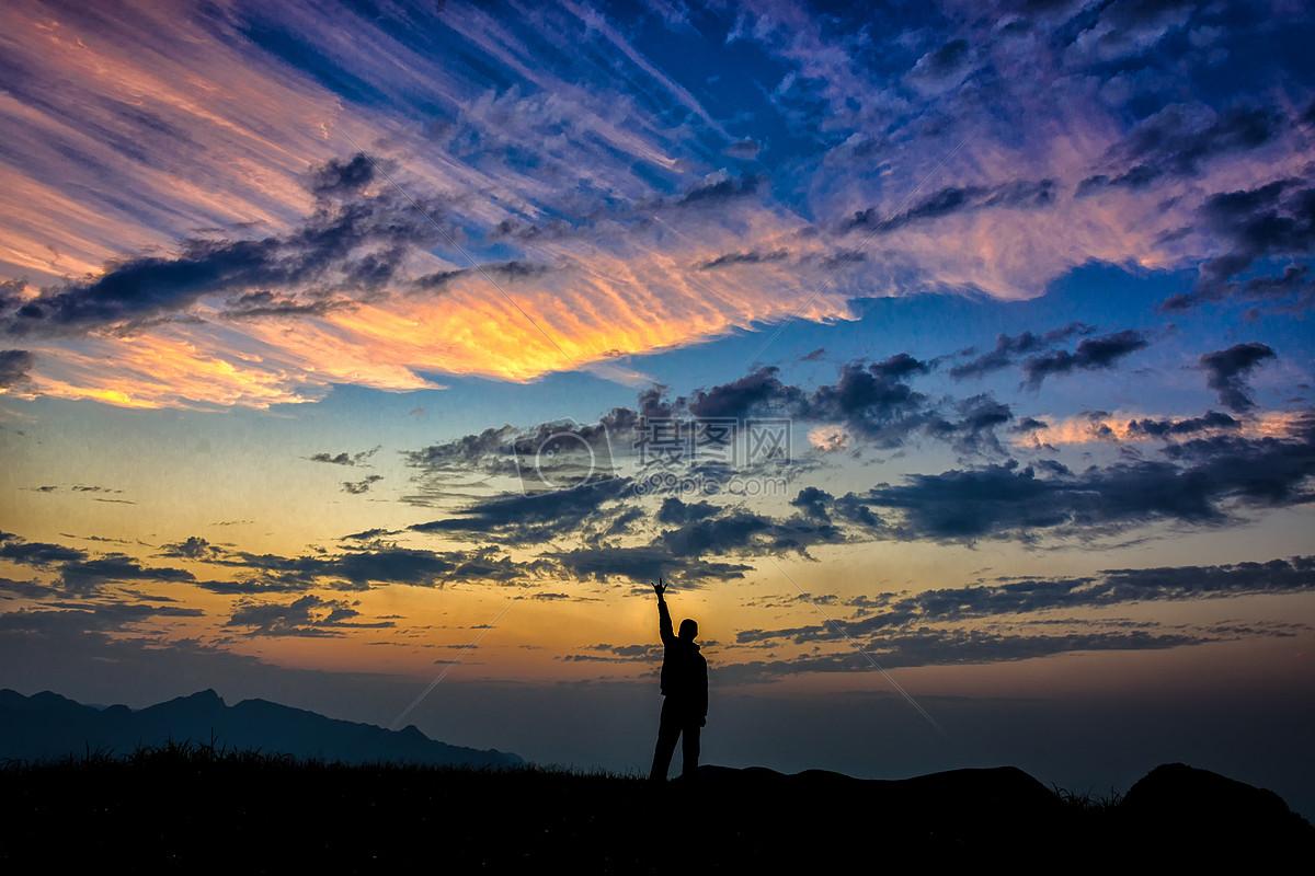 图片 照片 自然风景 火烧云剪影.jpg