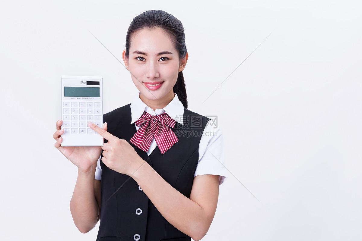 商务职业行政秘书手持计算器图片