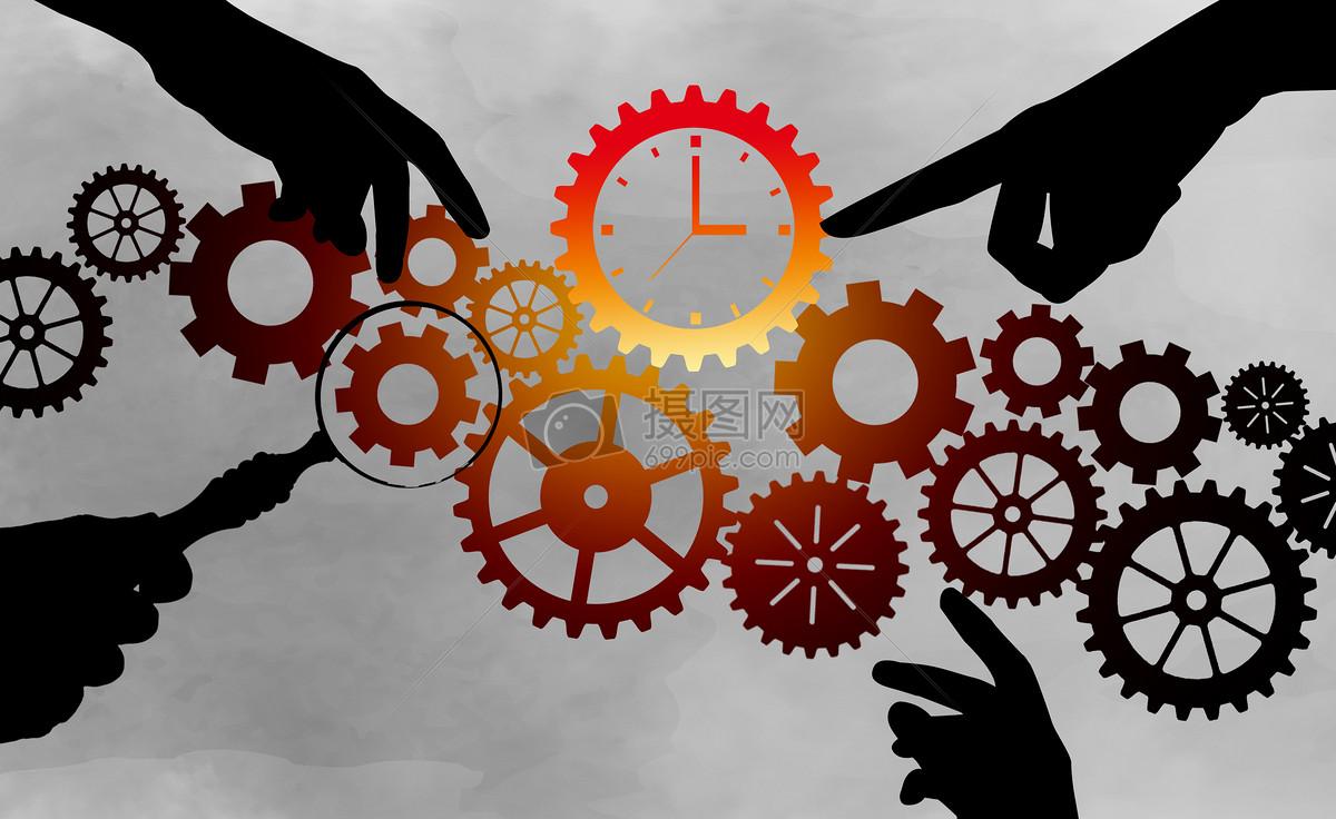 手摸时间齿轮图片