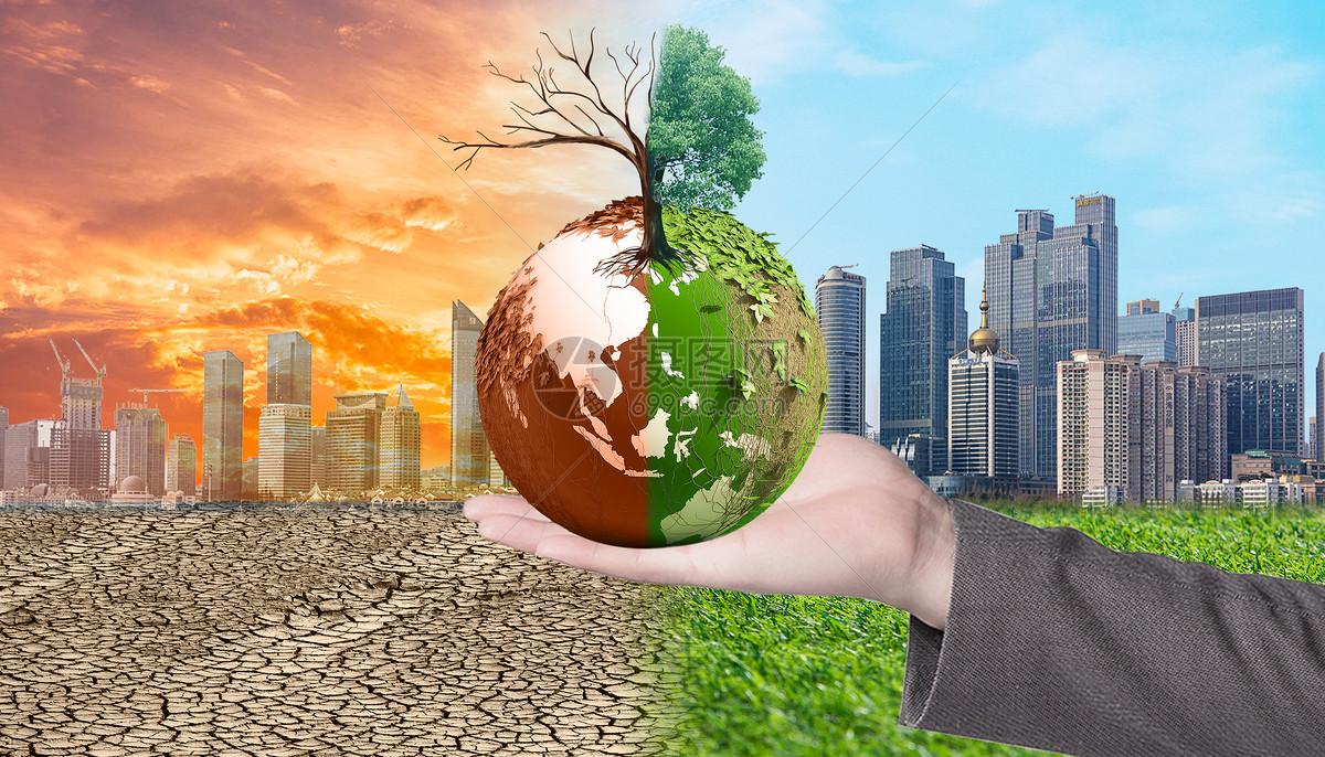 手中地球环境污染对比图片素材_免费下载_jpg图片格式_vrf高清图片