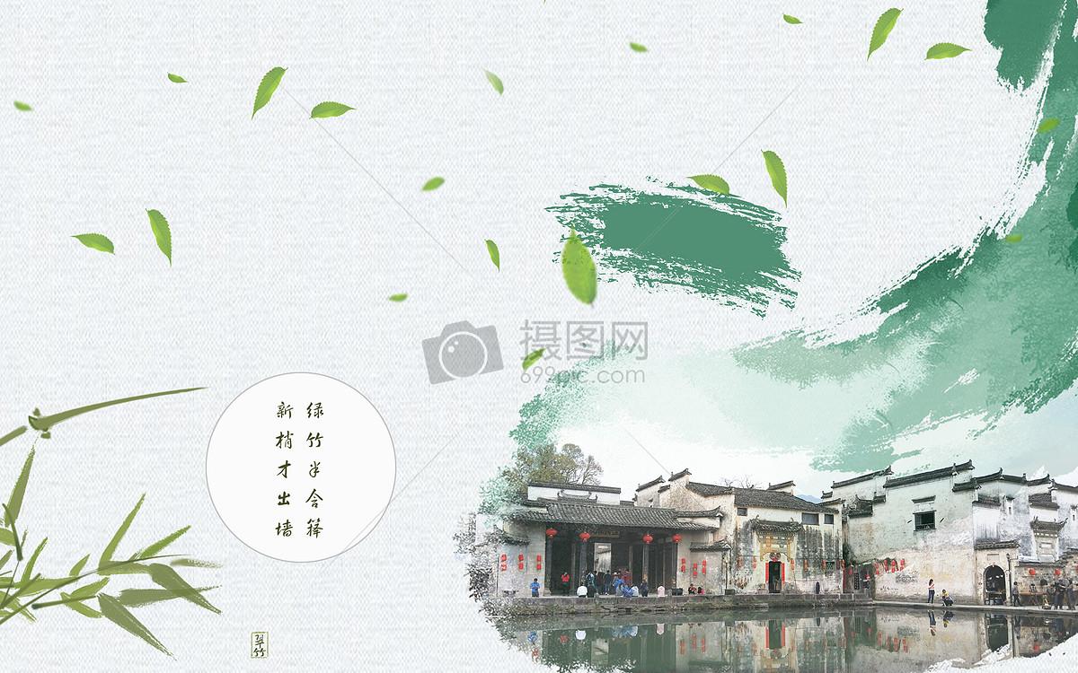 古风建筑水墨图图片素材_免费下载_jpg图片格式_vrf