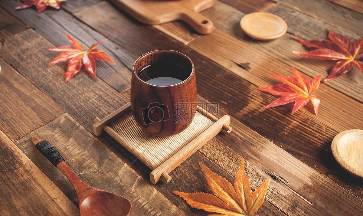 秋天茶饮品图片