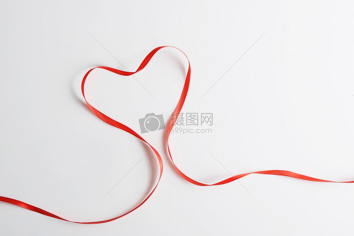七夕情人节爱心丝带图片素材_免费下载_jpg图片格式
