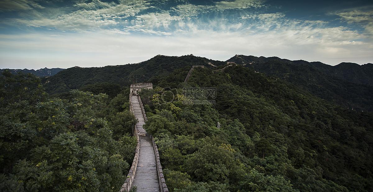 中国北京长城的风景 图片素材_免费下载_jpg图片格式