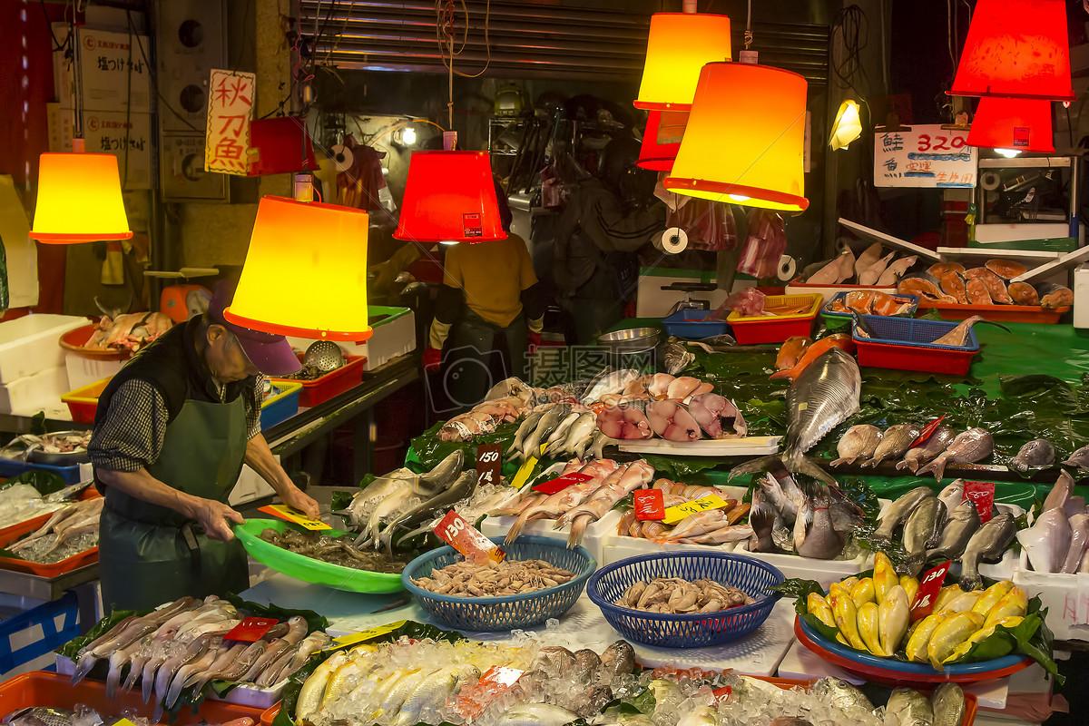 台湾淡水海鲜市场