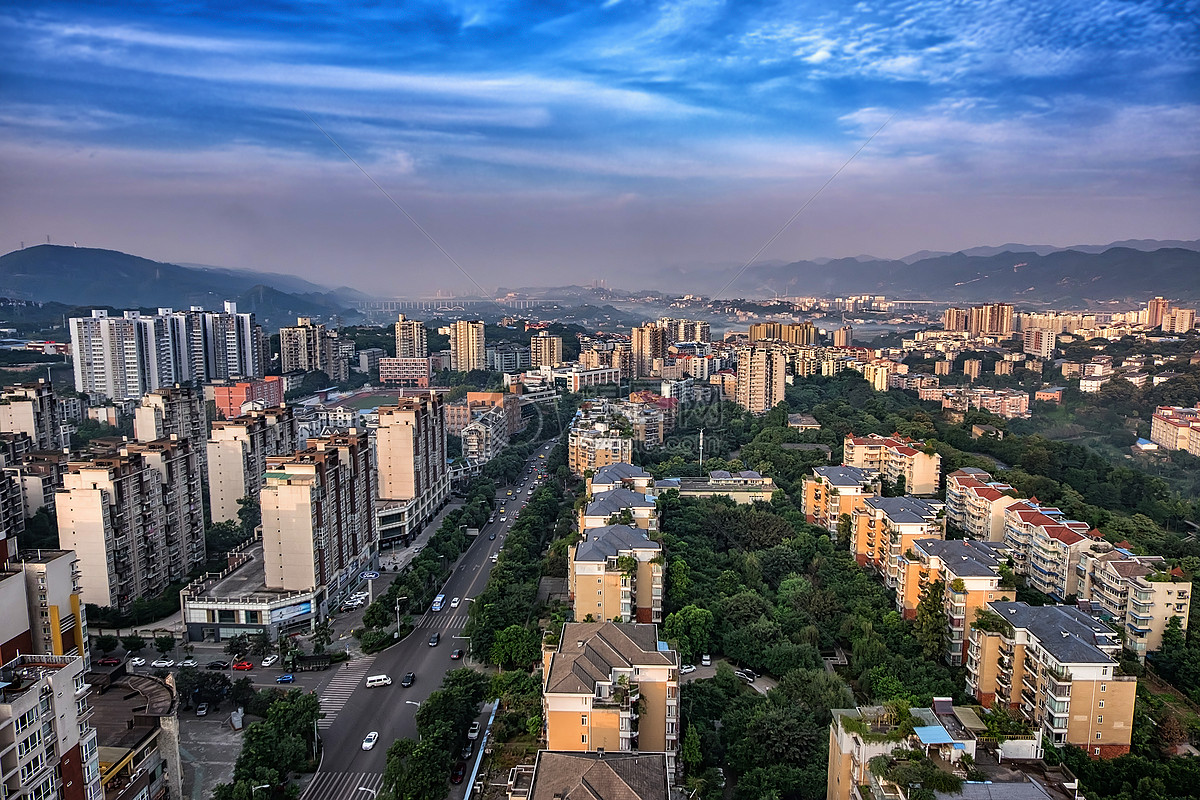 图片 照片 自然风景 俯瞰城市jpg