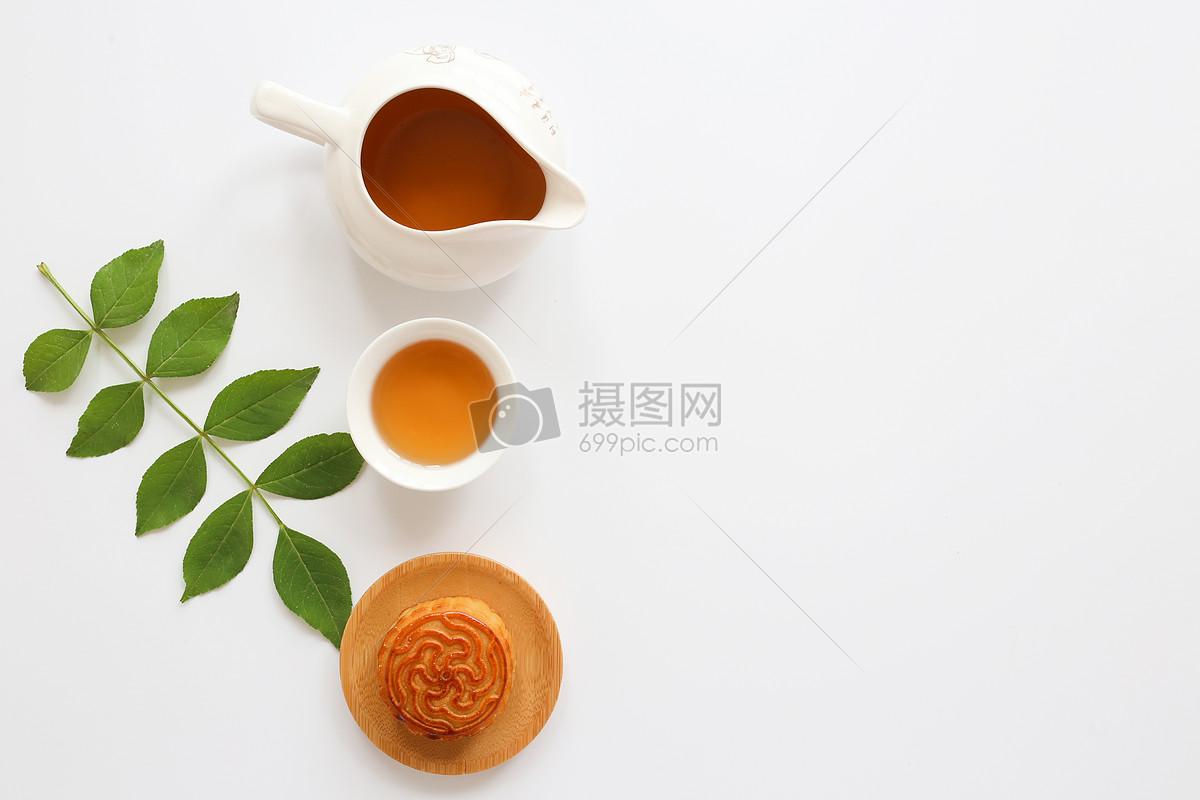 中秋节月饼白色背景静物图片素材_免费下载_jpg图片