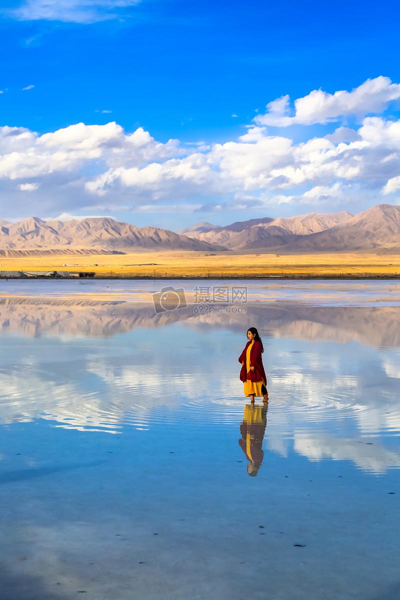 照片 自然风景 茶卡盐湖jpg
