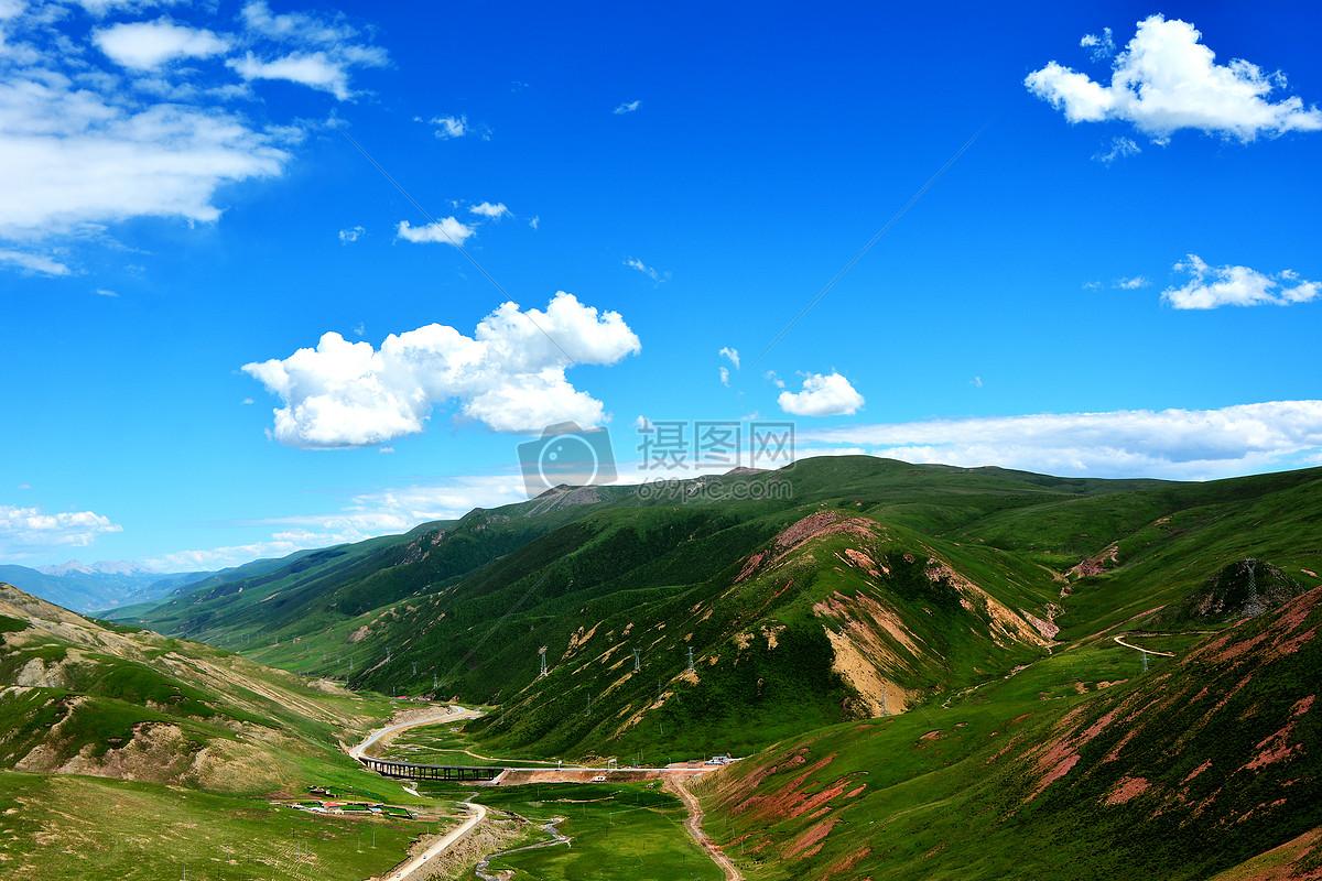 玉树红土山摄影图片免费下载_自然/风景图库大全_编号