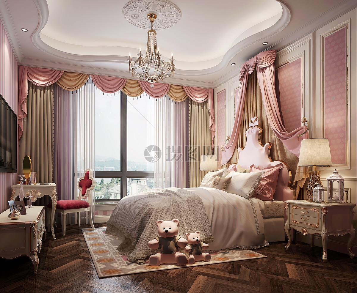 公主房卧室室内设计效果图