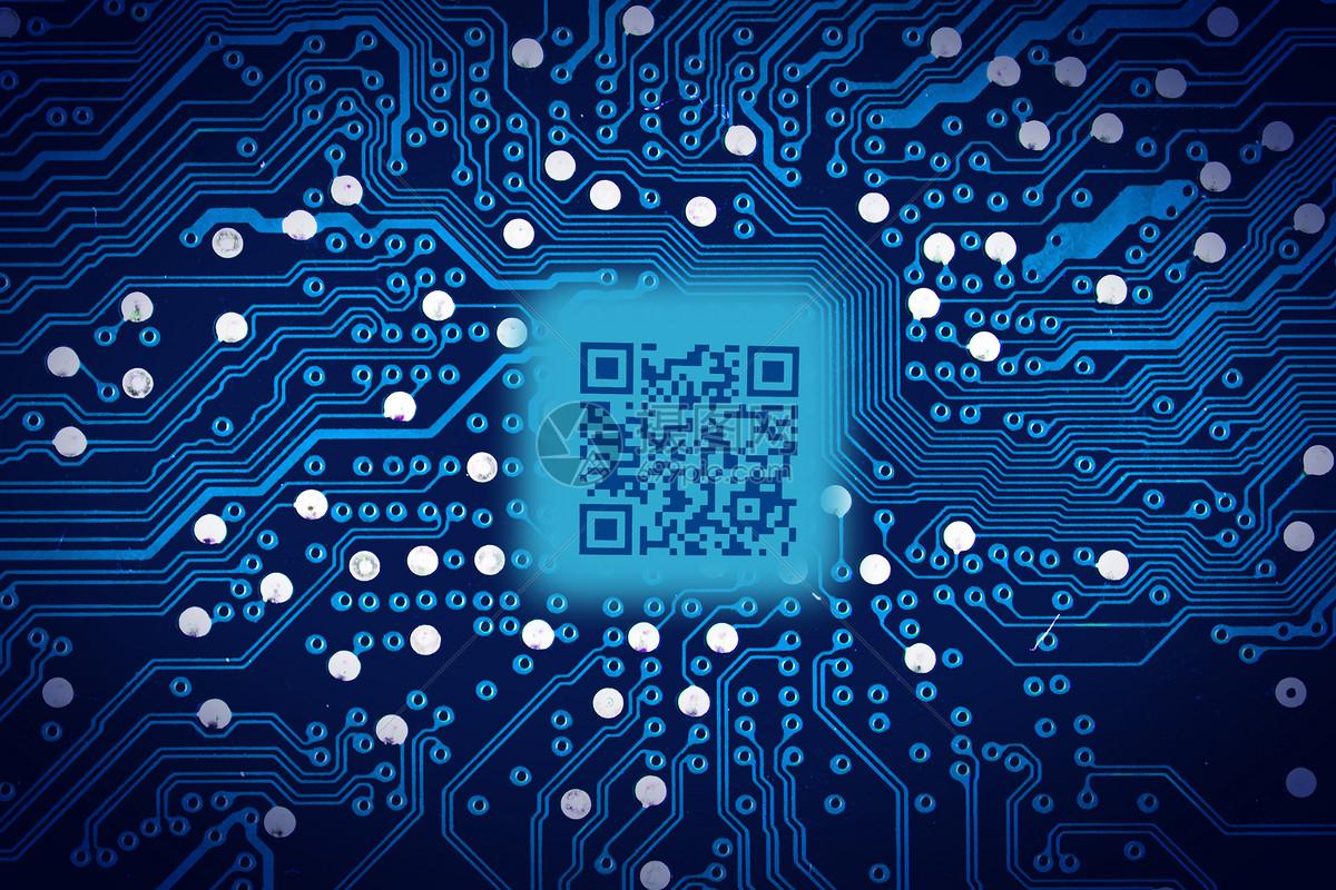 摄图网 创意合成 科学技术 二维码电路板.