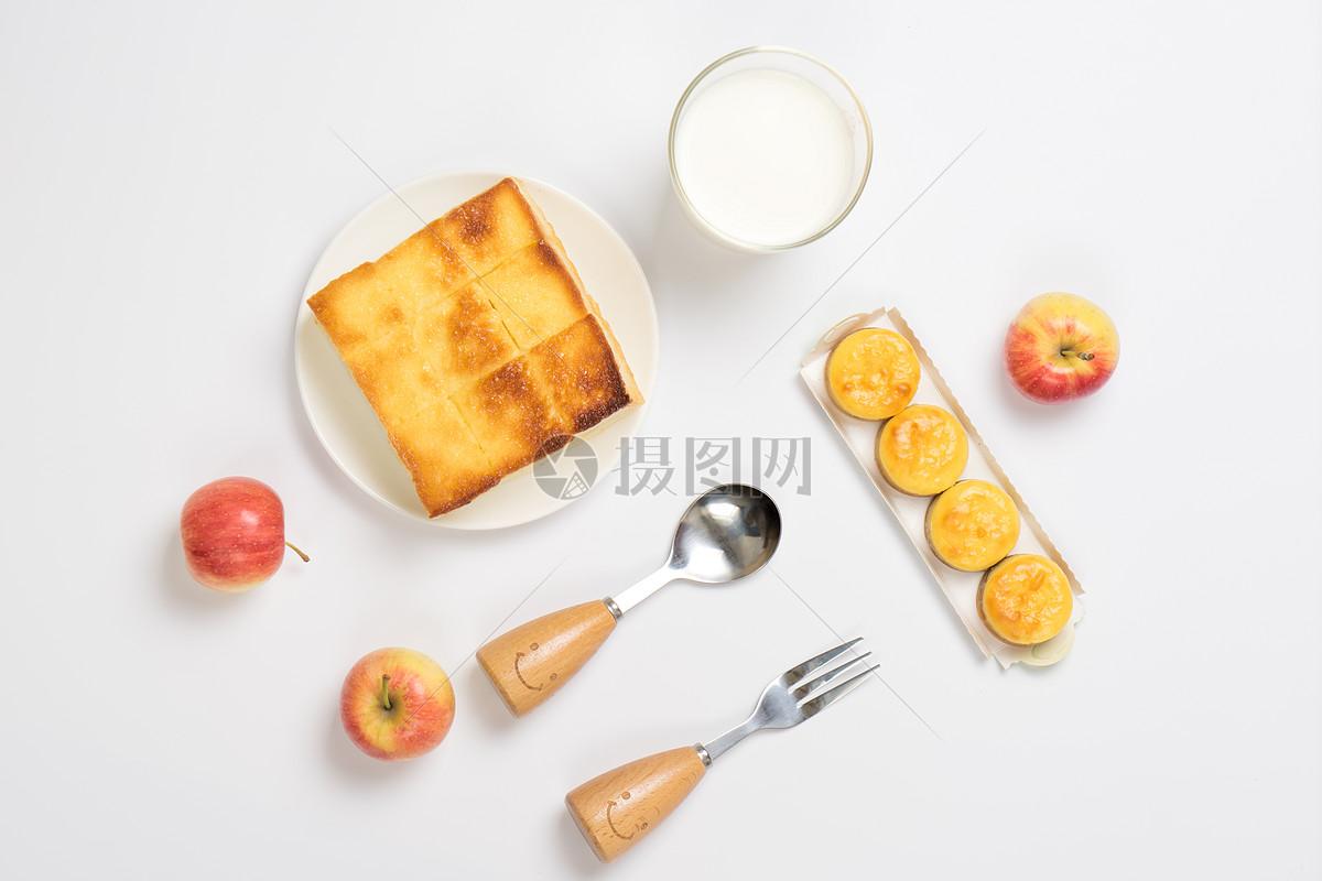 营养早餐摆盘素材图片