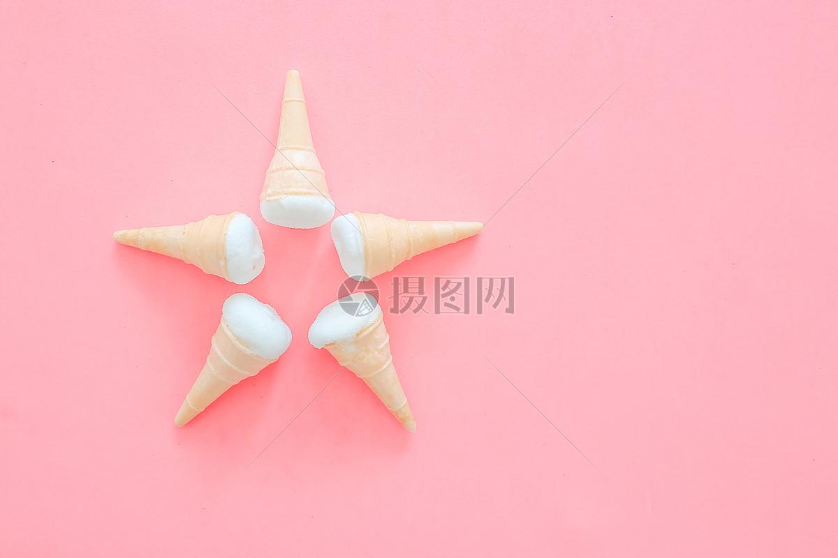 甜品粉红色背景图片