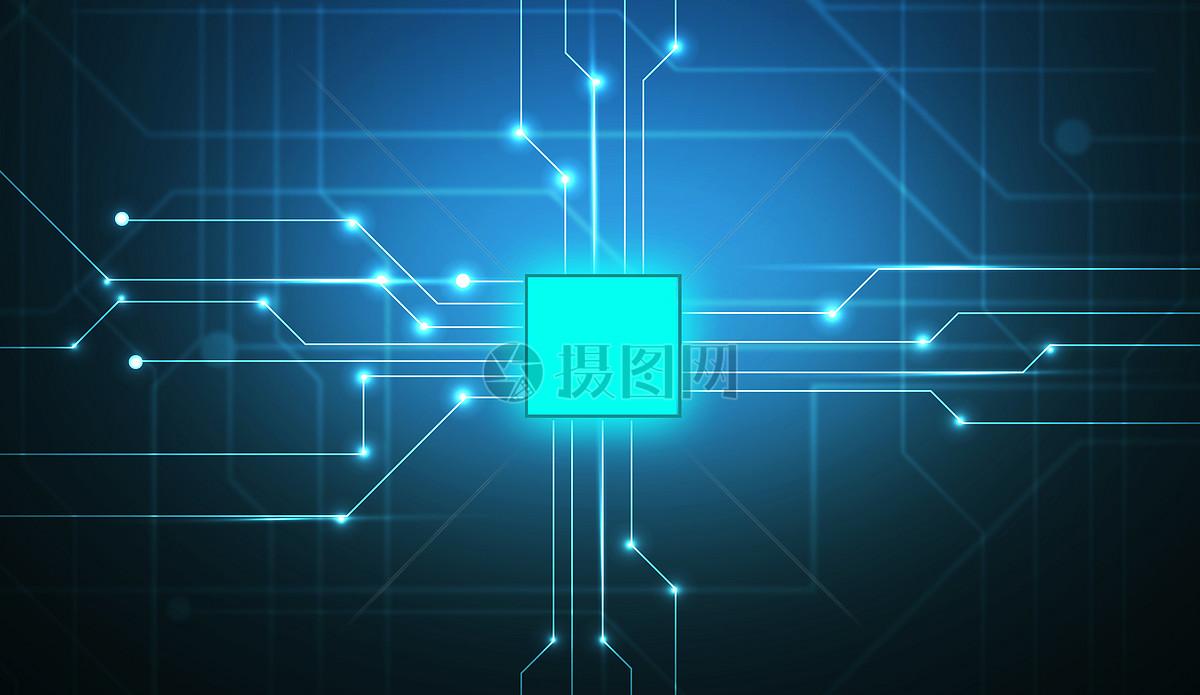 摄图网 创意合成 背景素材 蓝色电路科技.jpg