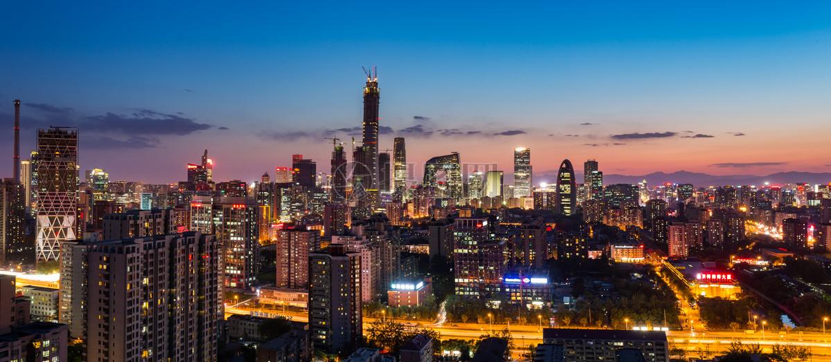 北京城市风光建筑繁华cbd国贸图片素材_免费下载_jpg图片格式_vrf高清