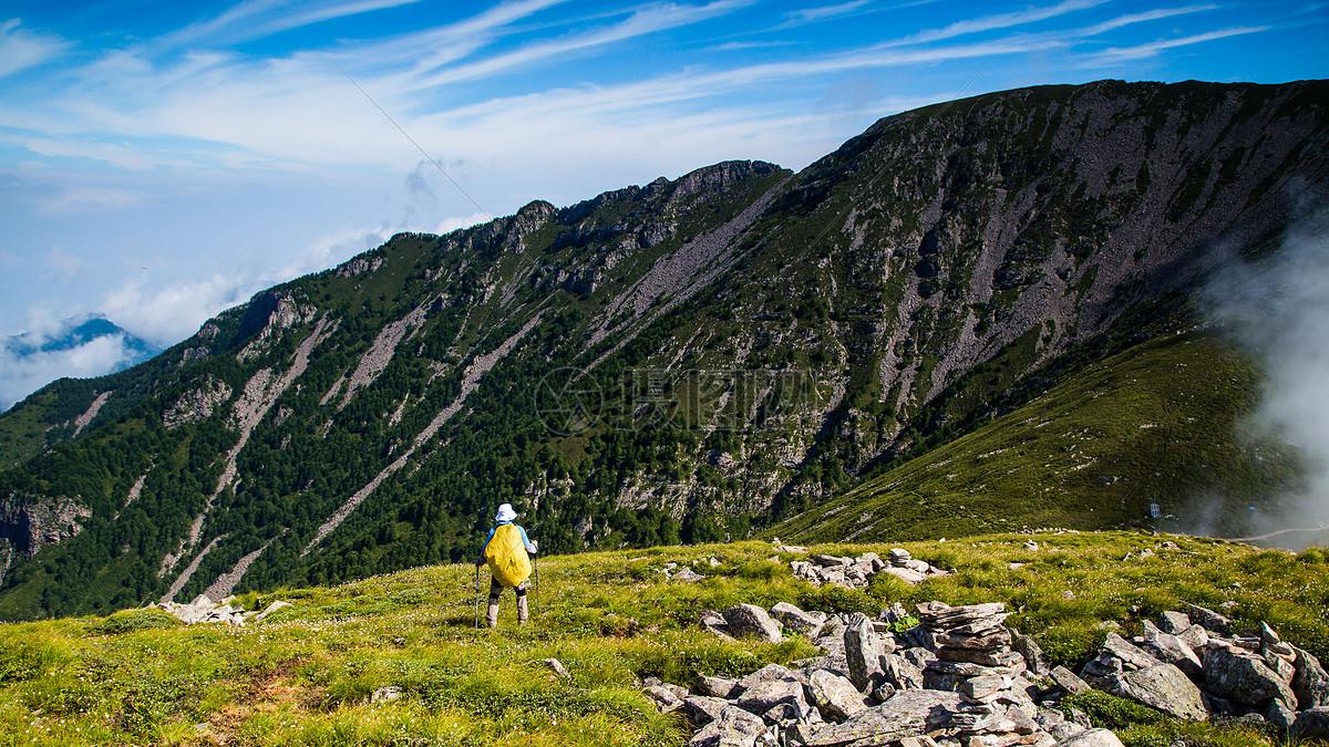徒步太白山摄影图片免费下载_自然/风景图库大全_编号