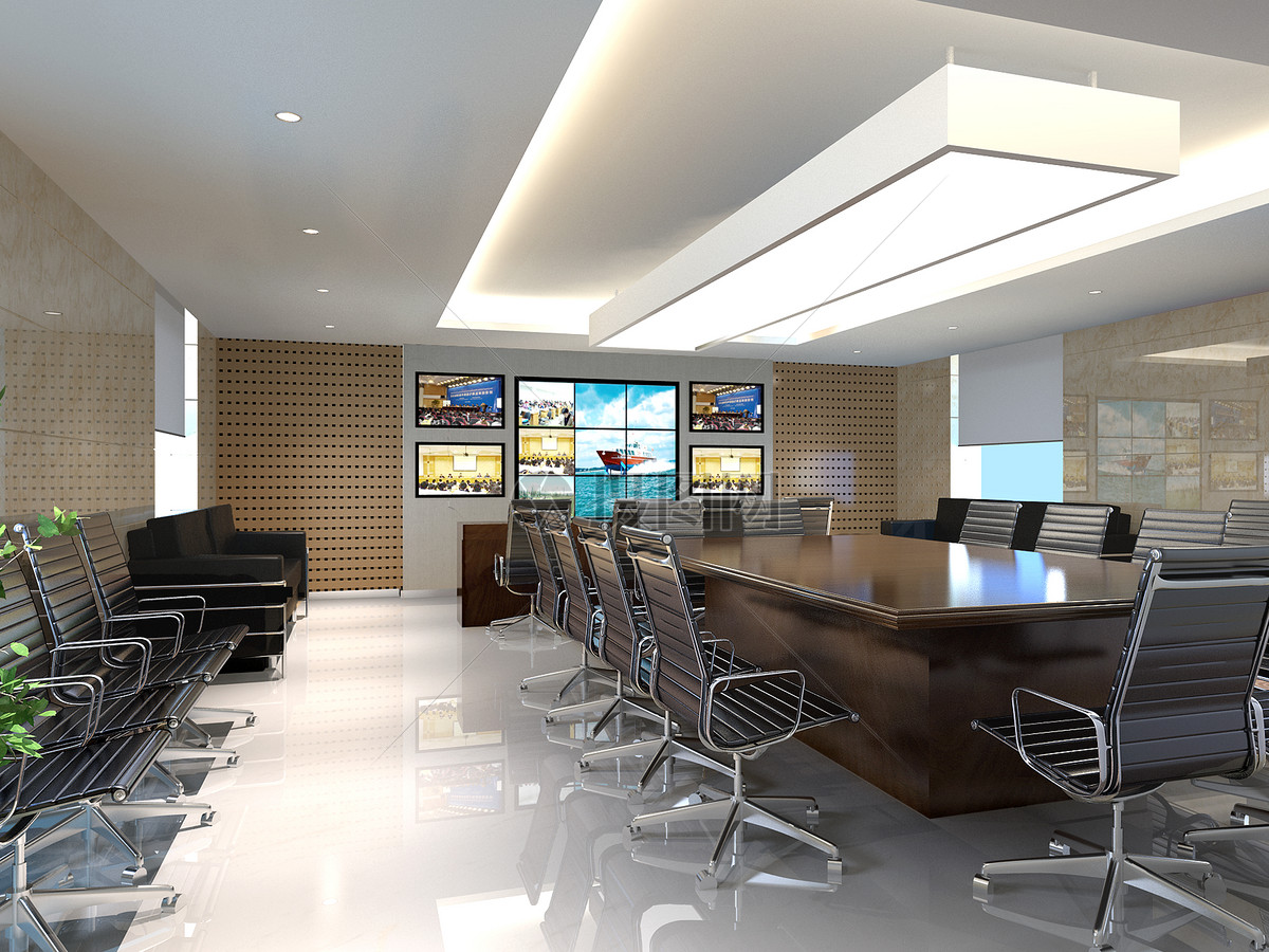 大型会议室效果图图片