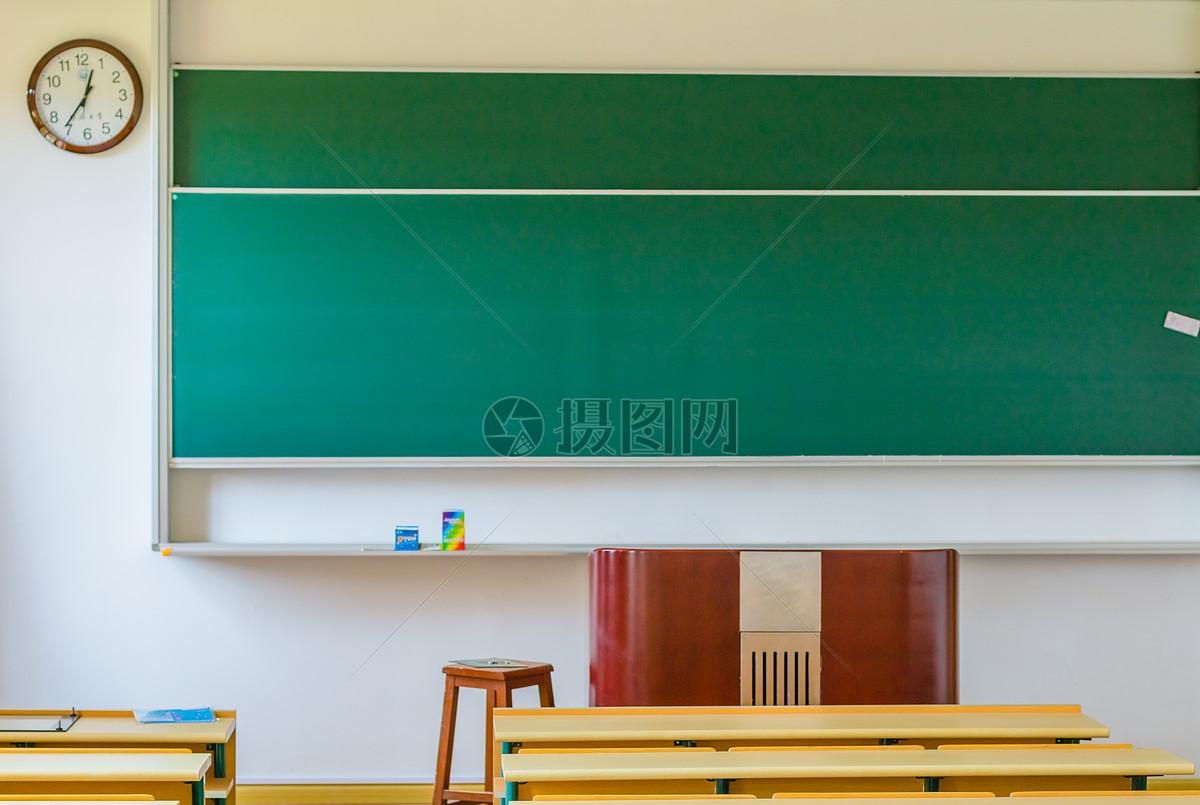 大学校园教室黑板讲台