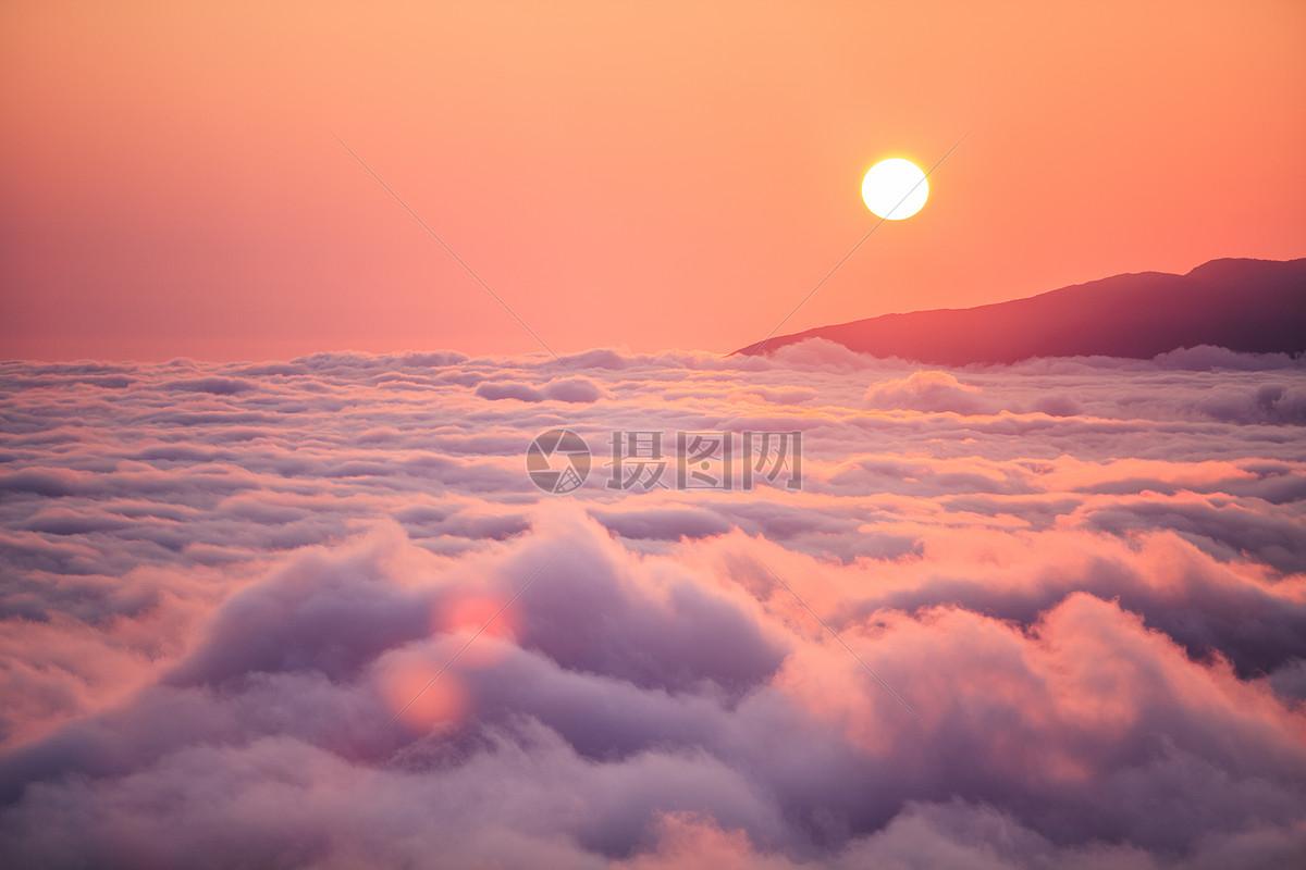 夕阳晚霞时的云海图片素材_免费下载_jpg图片格式_vrf高清图片