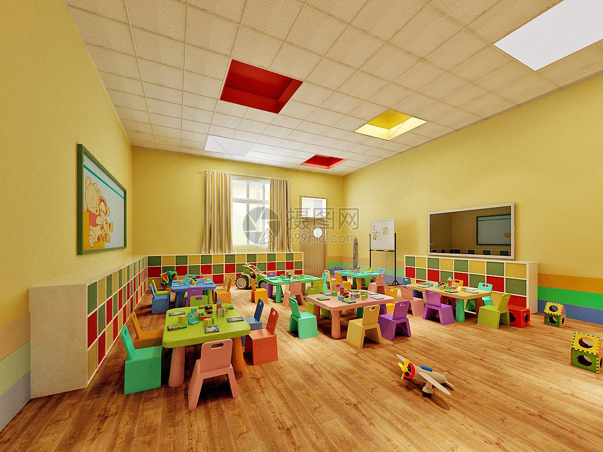 幼儿园走廊效果图