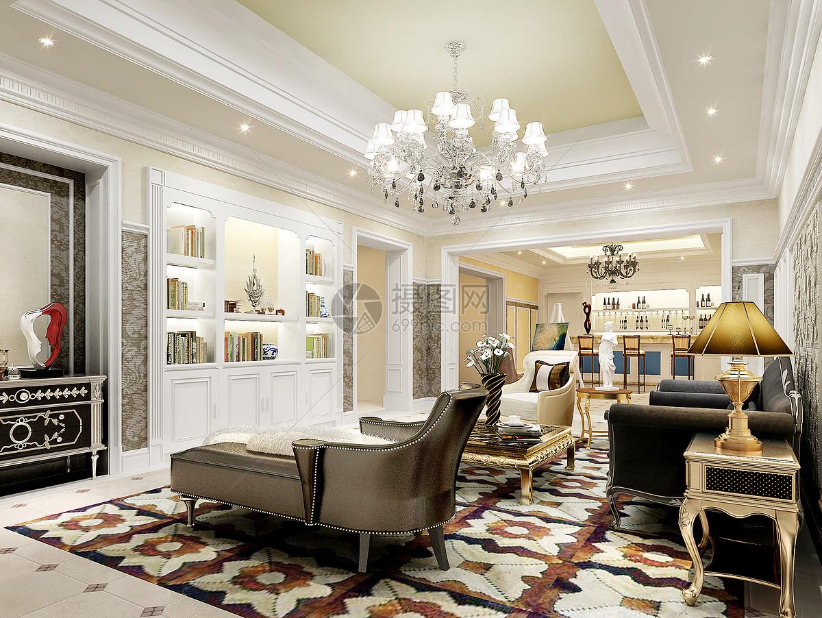 大厅大厅效果图壁画欧式客厅效果图图片欧式客厅效果图图片免费下载图片