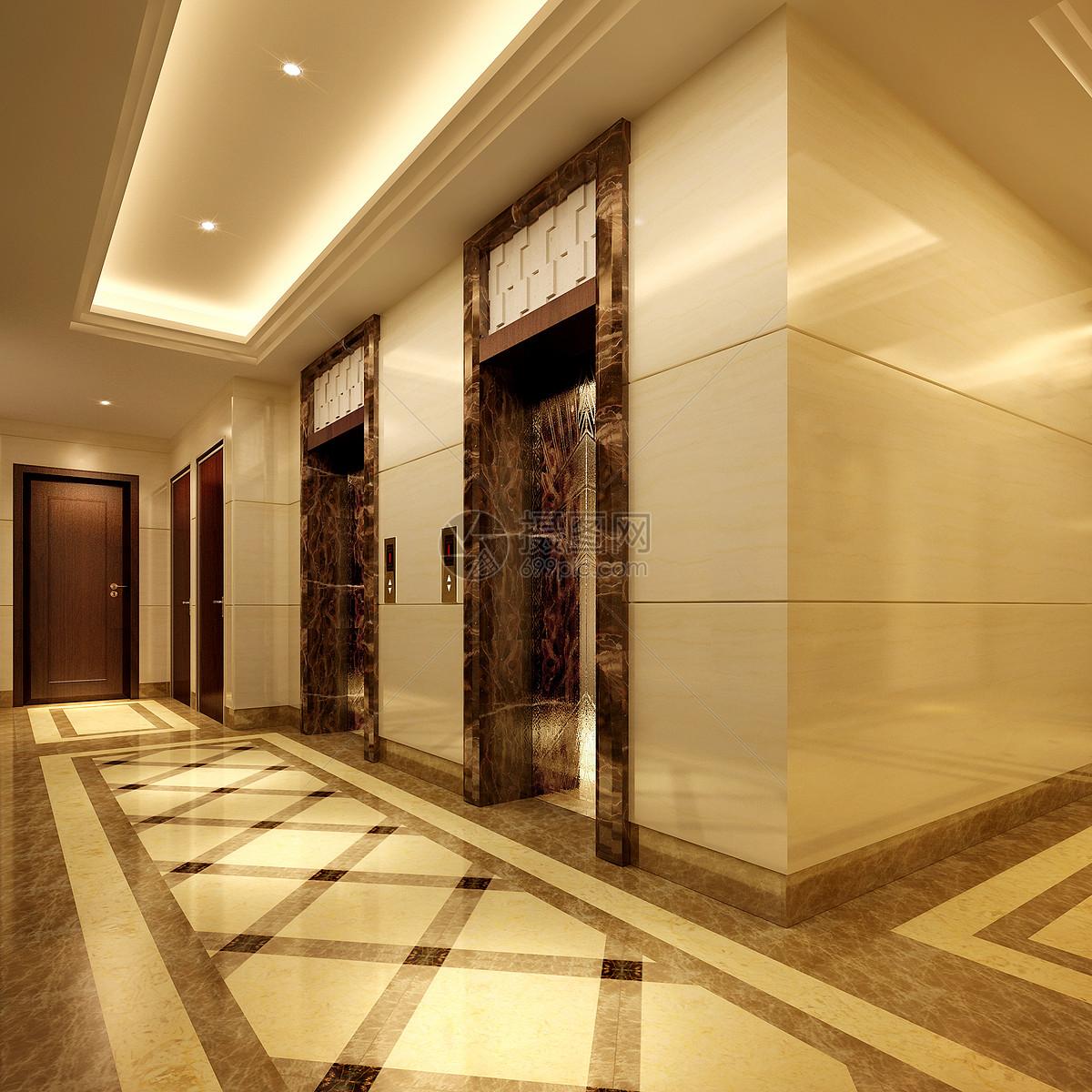 效果图玄关地砖拼花现代走廊效果图图片现代走廊效果图图片免费下载
