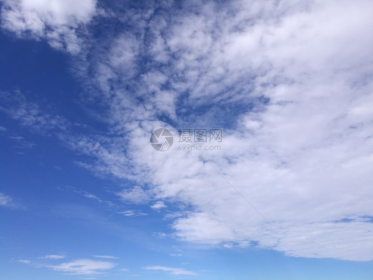 蓝天白云,若风吹云摄影图片免费下载_自然风景图库