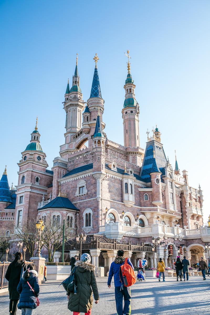 上海迪士尼城堡图片素材_免费下载_jpg图片格式_vrf