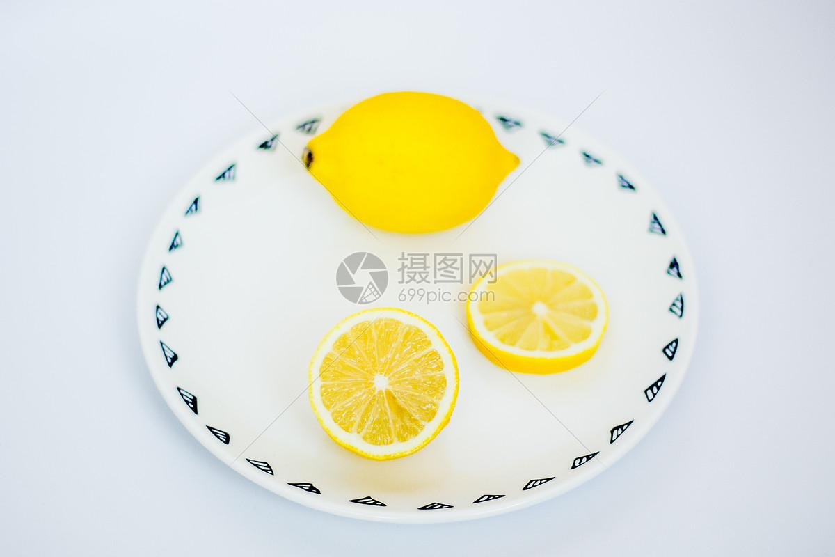 唯美图片 餐饮美食 柠檬摆盘jpg
