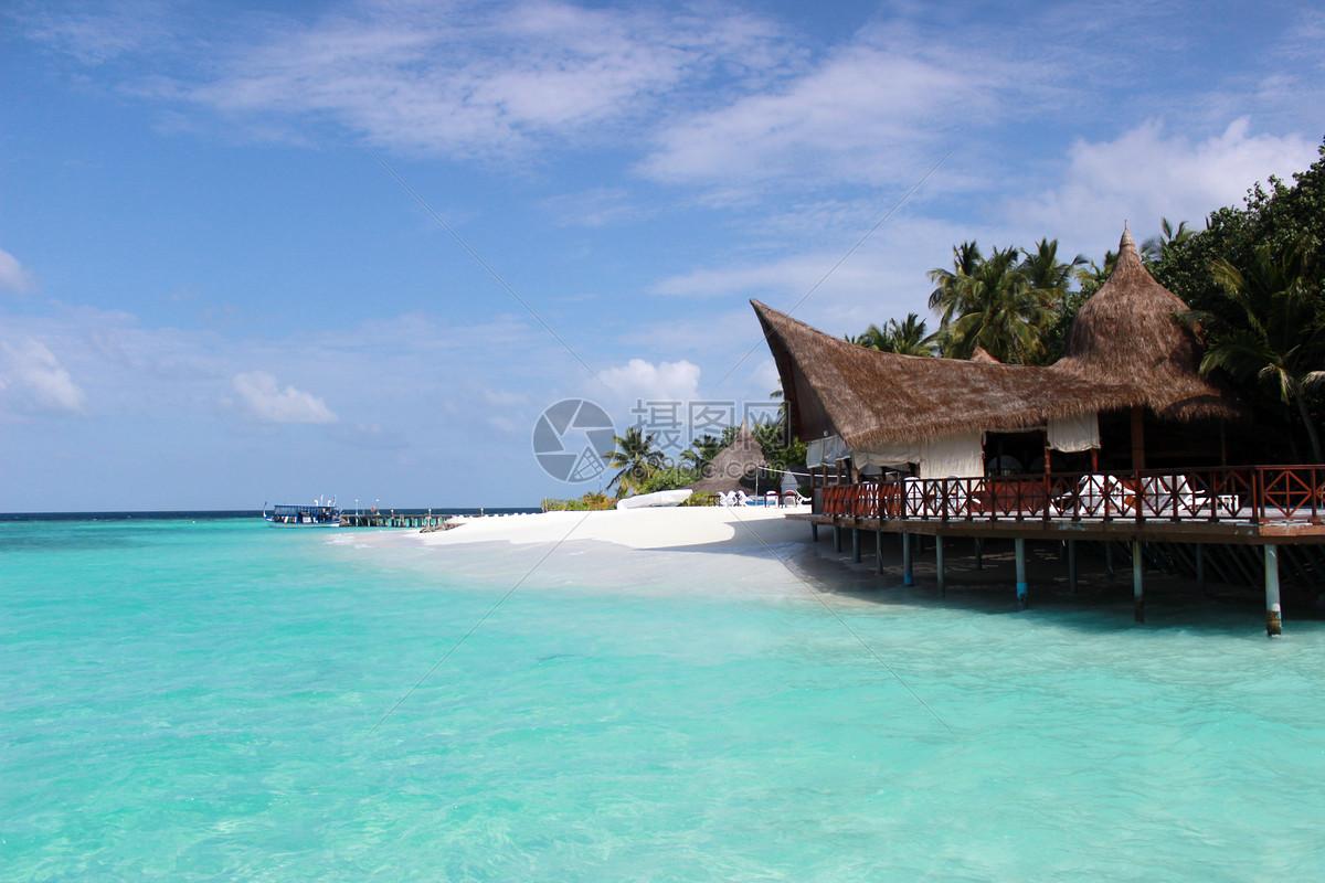 马尔代夫的沙滩一角