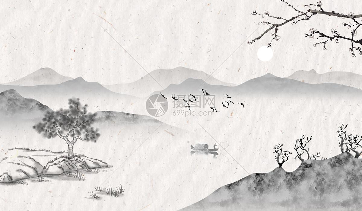 中国风水墨背景素材图片